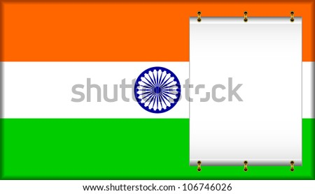 Flag of India. On a flag the banner is located. EPS version is available as ID 106441397. - stock photo
