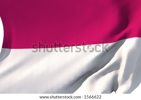 Flag of Indonesia in the wind.