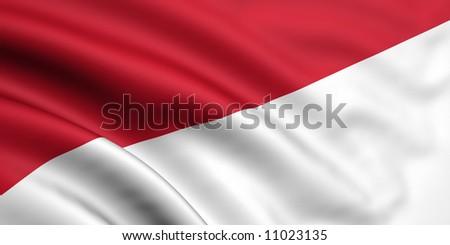 Flag Of Indonesia / Monaco - stock photo