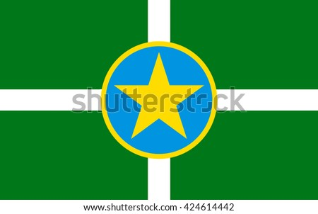 Flag of Jackson is the capital and largest city of the U.S. state of Mississippi - stock photo