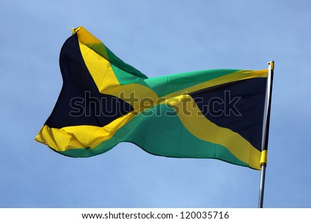 Flag of Jamaica - stock photo