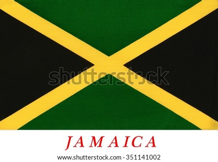 Jamaican Grunge Flag Little Scratches On Stock Vector 414601378