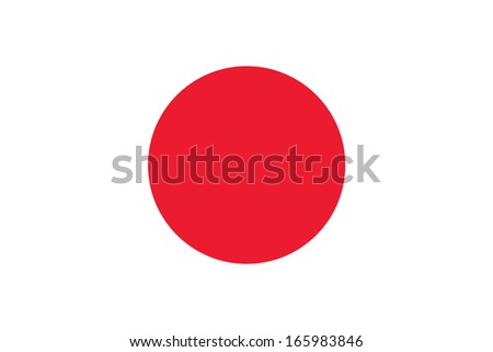 Flag of Japan. Accurate dimensions, element proportions and colors. - stock photo