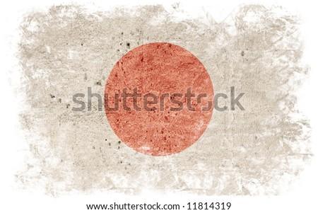 flag of japan - undertone background frame - stock photo