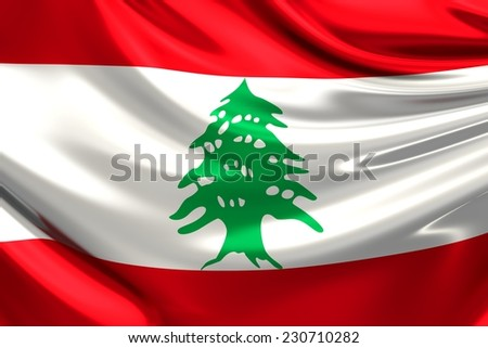 Flag of Lebanon.