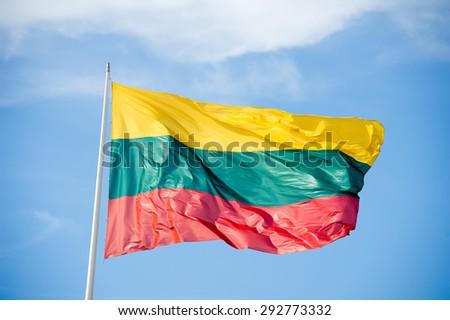 Flag of Lithuania - Lithuanian flag - stock photo