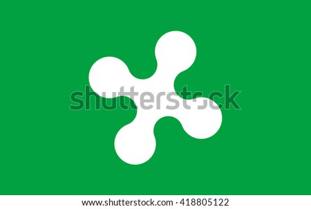 Flag of Lombardy is one of the twenty administrative regions of Italy - stock photo