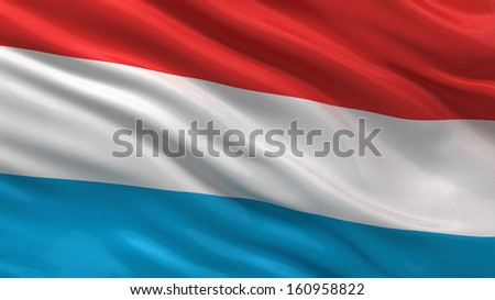 Flag of Luxembourg waving in the wind