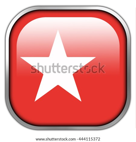 Flag of Maastricht, square glossy button - stock photo