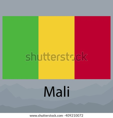 Flag of Mali - stock photo