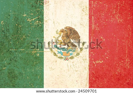 Flag of Mexico grunge - stock photo