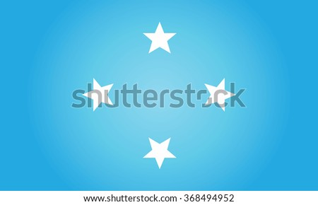Flag of Micronesia (Federated States of Micronesia) - stock photo