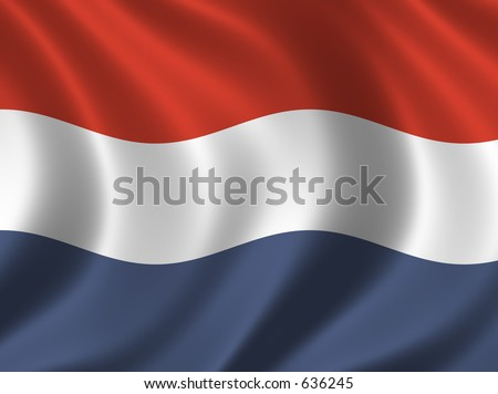 Flag of Netherlands / Holland - stock photo