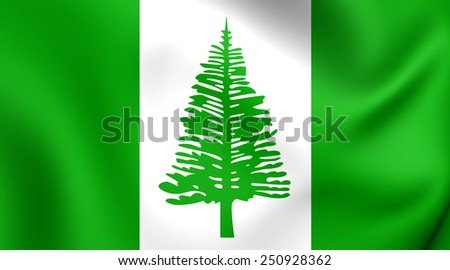 Flag of Norfolk Island. Close Up. - stock photo