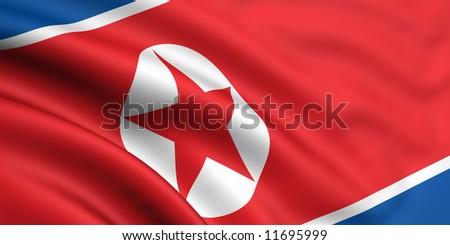 Flag Of North Korea - stock photo