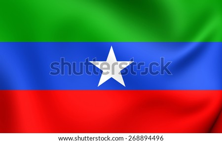 Flag of Ogaden. Close Up.    - stock photo