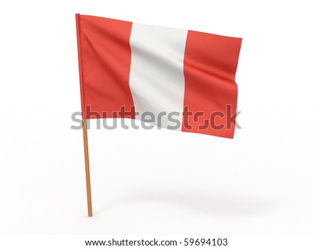 Flag of Peru. 3d - stock photo