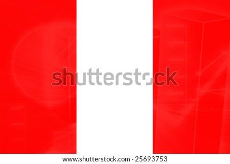 Flag of Peru, national country symbol illustration - stock photo