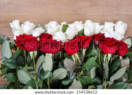 Flag of Poland made of flowers - stock photo