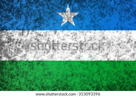 Flag of Puntland in grunge style. - stock photo
