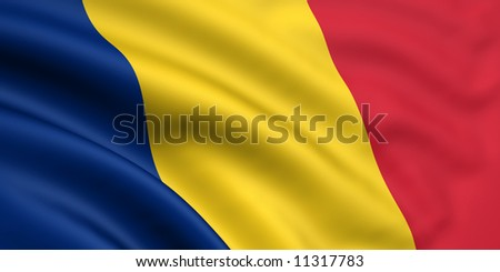 Flag Of Romania / Chad - stock photo