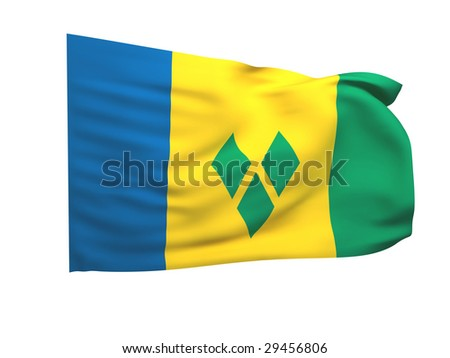flag of saint vincent and the grenadines - stock photo