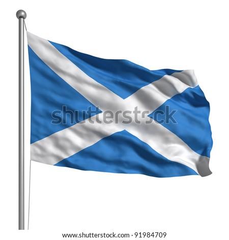 Flag of Scotland - stock photo