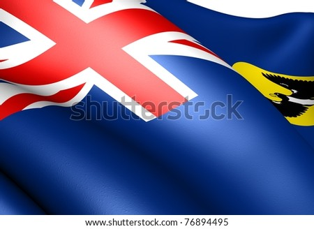 Flag of South Australia. Close-up. - stock photo