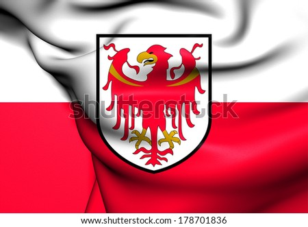 Flag of South Tyrol, Italy. - stock photo