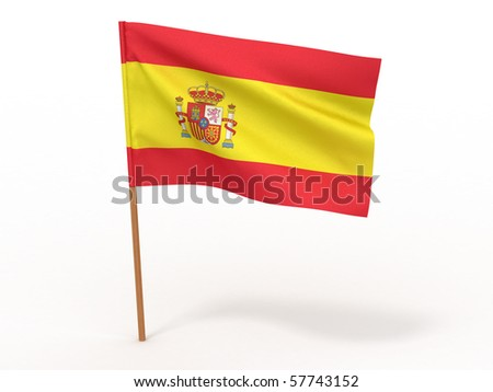 Flag of spain . 3d - stock photo