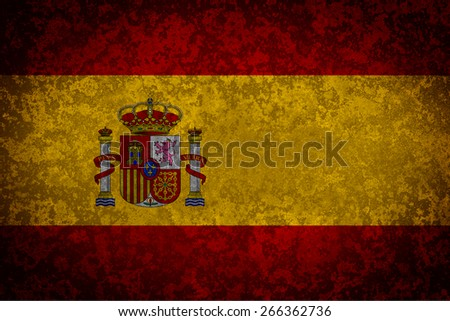 Flag of Spain. Grungy textured Spanish flag.