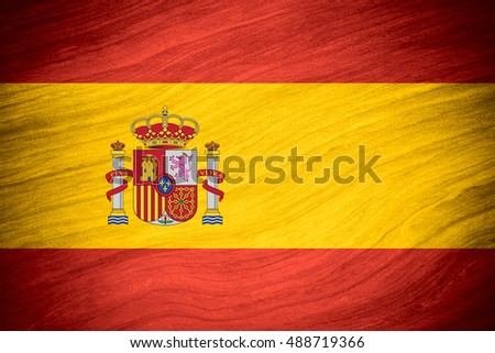 flag of Spain or Spanish banner on abstract background