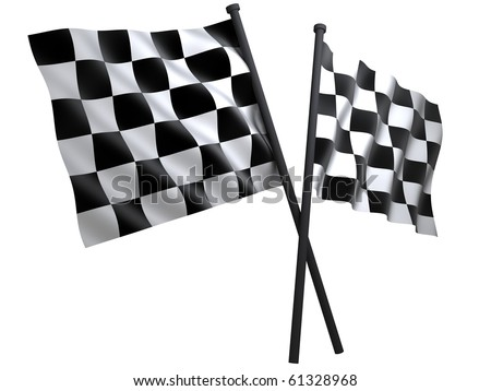 flag of start or finesha, done in 3d - stock photo