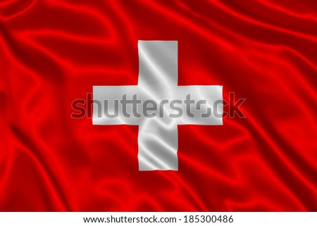 Flag of Switzerland - stock photo