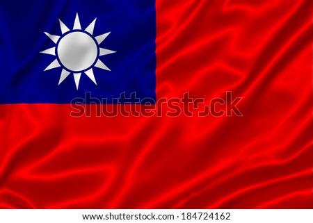 Flag of Taiwan - stock photo