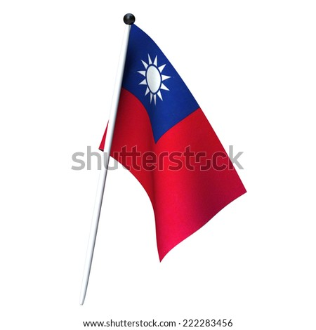 Flag of Taiwan for adv or others purpose use - stock photo