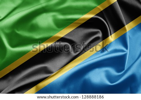 Flag of Tanzania - stock photo