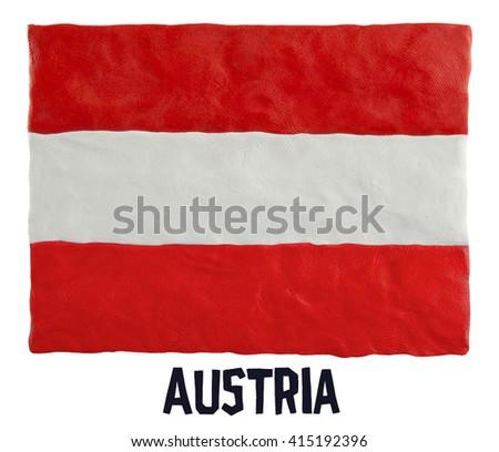 Flag of the Austria  - stock photo