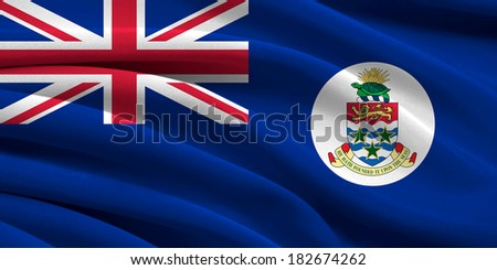 Flag of The Cayman Islands  - stock photo