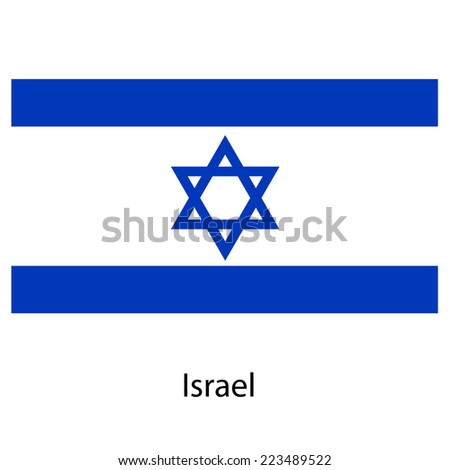 Flag  of the country  israel.  illustration.  Exact colors.  - stock photo