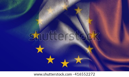 Flag of the European Union and Ireland