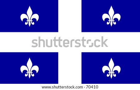 Flag of the Frenchspeaking Canadian provinvce of Québec
