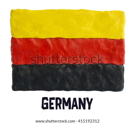 Flag of the Germany  - stock photo