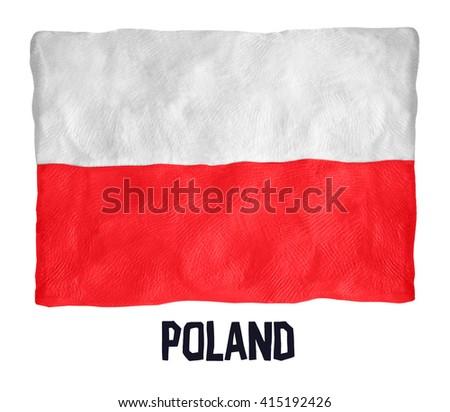 Flag of the Poland  - stock photo