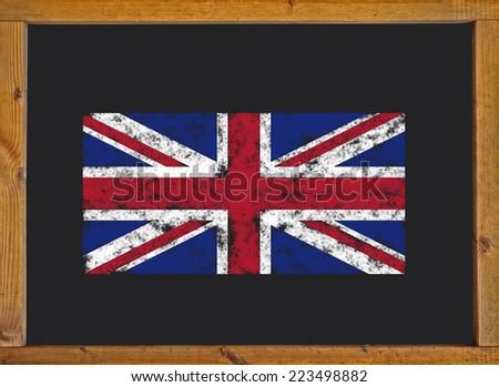 Flag of the United Kingdom on a blackboard - stock photo