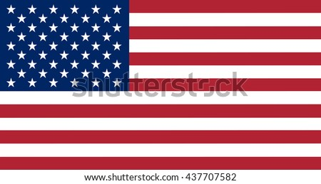 Flag of the United States in correct proportions and colors