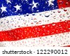 Flag of the United States. USA flag with rain droplets. - stock photo