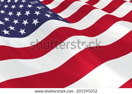 Flag of the USA. - stock photo