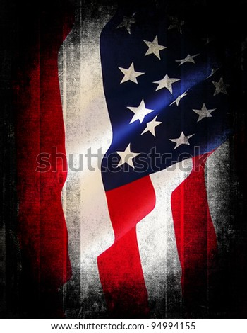 Flag of the USA (United States of America) - stock photo
