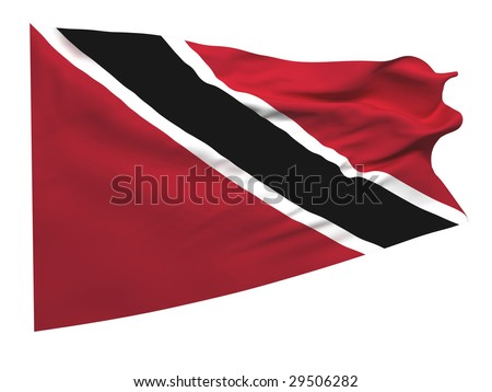 flag of Trinidad and Tobago - stock photo